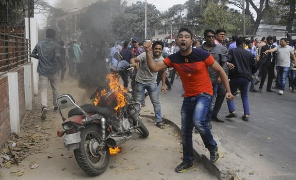 Violent protests as opposition leader is jailed in Bangladesh
