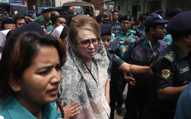 British lawyer for jailed Bangladeshi ex-PM 'outraged' by India entry denial
