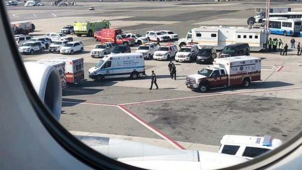 Emirates plane carrying sick passengers lands at JFK airport, officials say