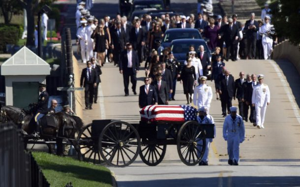 McCain laid to rest at Naval Academy alongside old friend