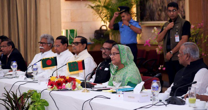 Bangladesh PM holds rare talks with opposition