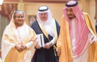 King Salman welcomes Bangladesh PM Sheikh Hasina