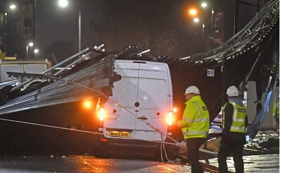 Stormy weather across England causes damage