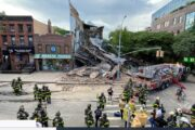 US Three-story building comes crashing down in Brooklyn