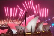 Fireworks in New Zealand and Australia for 2021