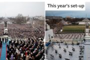 Biden inauguration: How security threats and Covid have changed ceremony,Ceremony the same, but different