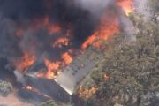 Perth: Bush fire threatens locked-down Australian city